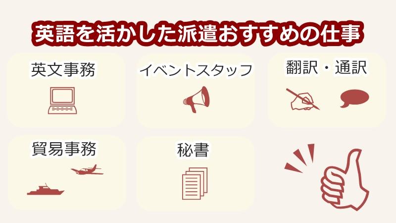 英語を使う派遣おすすめの仕事5選