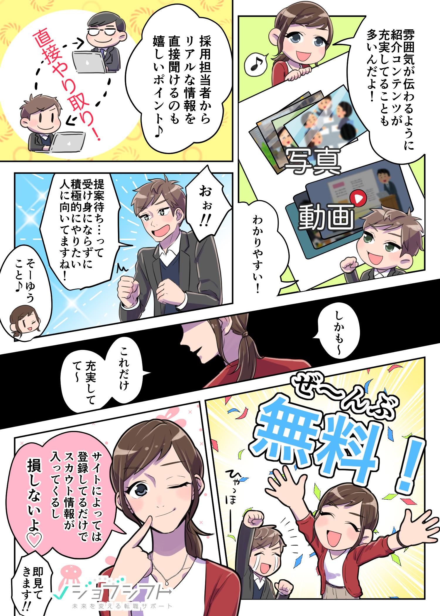 転職サイト紹介漫画