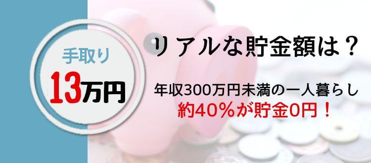 手取り13万円のリアルな貯金額